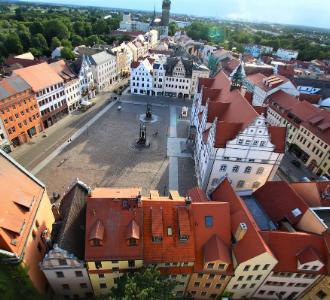 Stadtkirche Wittenberg Blick vom Kirchturm