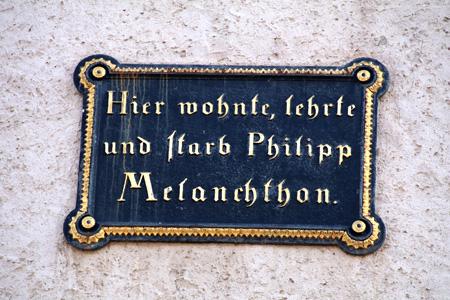 Gedenkttafel am Melanchthonhaus Wittenberg