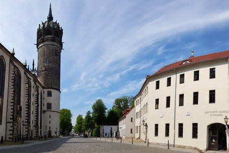 Wittenberg Schlosskirche und alte Kanzlei