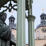 Wittenberg Stadtkirche und Lutherdenkmal