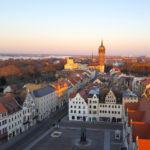 Blick von der Stadtkirche Wittenberg