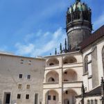 Schlosshof und Schlosskirche Wittenberg