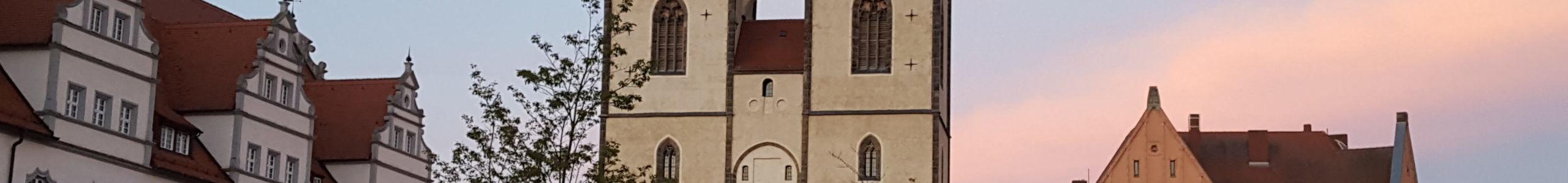 Stadtkirche St. Marien am Abend