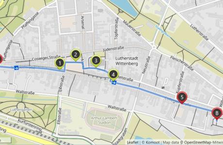 Karte Stadtfuehrung Wittenberg klassisch