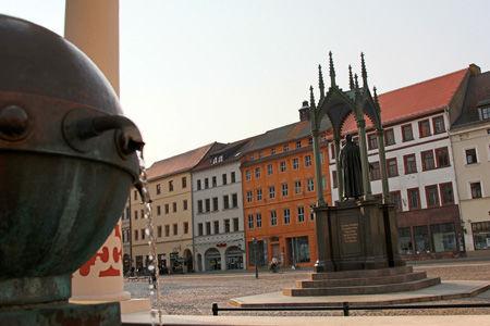 Markt Wittenberg und Cranachhaus