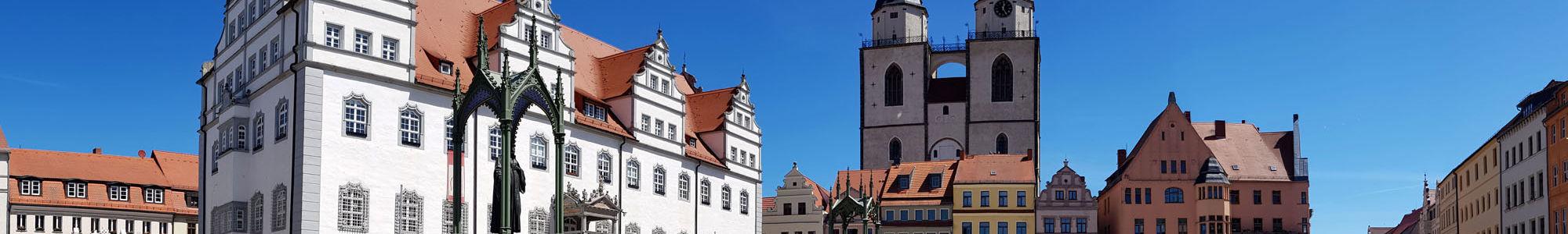 Wittenberger Markt mit Stadtkirche