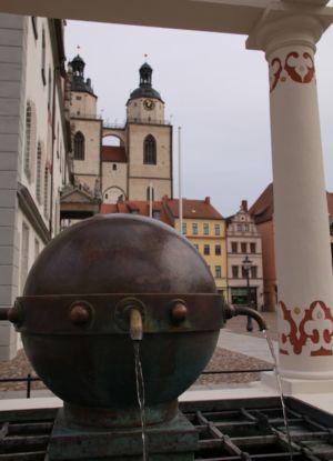 Röhrwasserbrunnen Markt Wittenberg